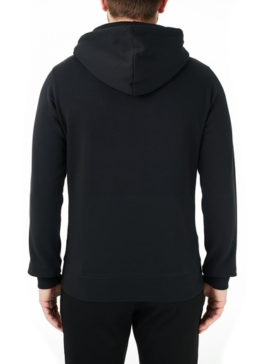 Calvin Klein  Baskılı Kapüşonlu Kanguru Cepli % 100 Pamuk Sweat Erkek Sweat J30J314557 Beh Siyah